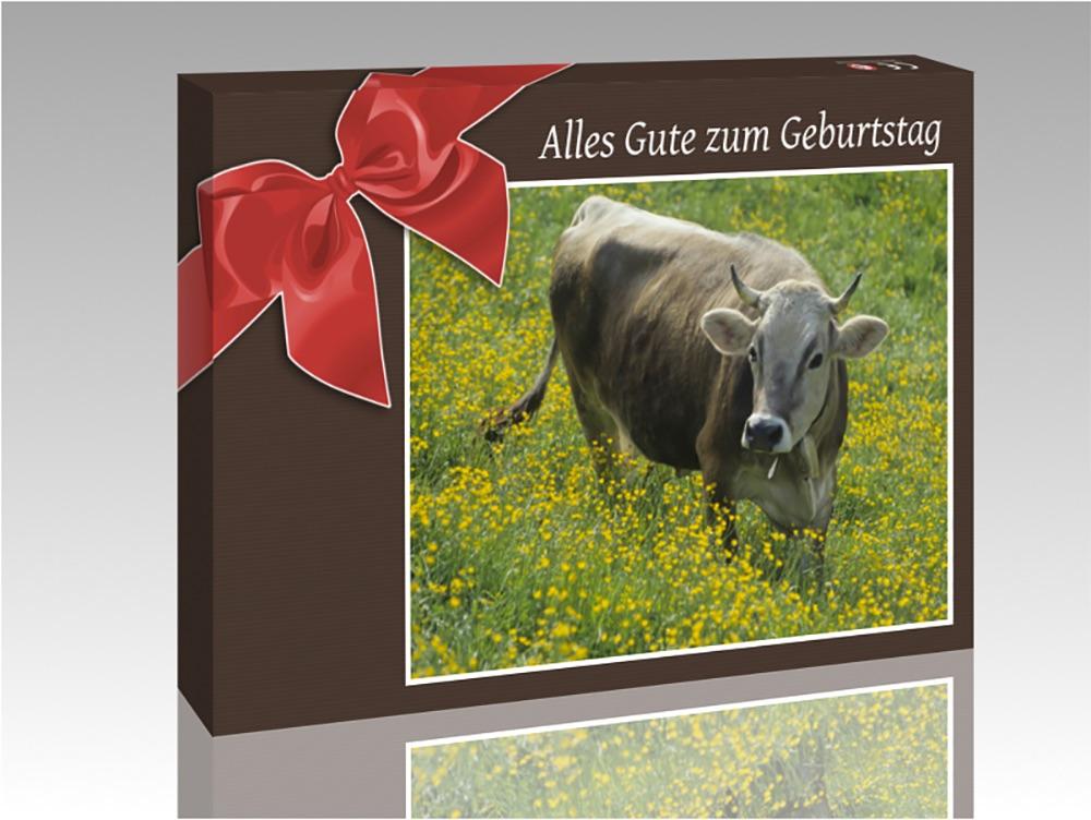 geschenk erpackung mit kuh
